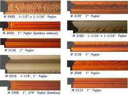In - Stock  Mouldings,  Embossed