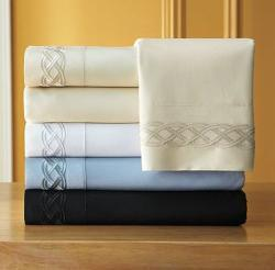 Martex 300-Thread Count Egyptian Cotton Embroidered Sheet Set