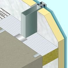 Lamatherm fire protection curtain walling firestop for Mineral wool firestop
