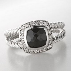 David Yurman 7mm Black Onyx Petite Albion Ring