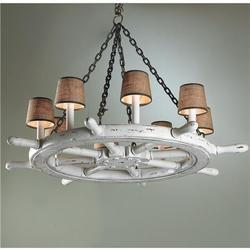 Five Bell Wagon Wheel Chandelier - Cabin Decor and Cabin Bedding