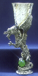 Limited Edition/Emerald Dragon Lmtd. Edition Pewter Goblet