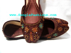 Ladies Beaded Khussa Shoes