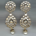 Antique Uncut Diamond Earring
