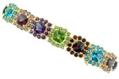 Check Multi Color Stone Bracelet
