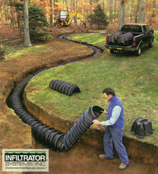 Leach fields from loomis tank center trader of rain water for How big septic tank do i need