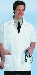 Men'S Zippered Lab Coat