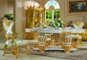 Handwork Gilding Golden Foil Royalty Dining Table