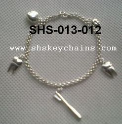 Bracelet Sterling Silver with 4-5 Charms