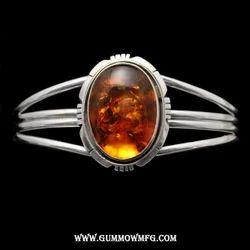 Captivating Amber Cab Cuff Bracelet