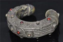 Tribal Bracelets-Afghan Tribe Kuchi Silver Bracelet Tradional