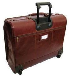 Leather Garment Bag With Trolley