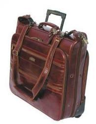 Wheeled Leather Garment Bag