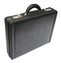 Black Leather-Look Pu Laptop Attache Case