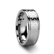 Pallas Celtic Knot Laser Engraved Tungsten Wedding Ring