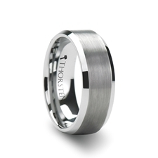 Sheffield Flat Beveled Edges Tungsten Ring