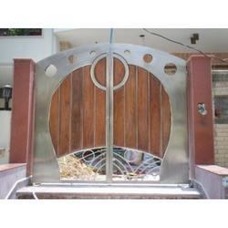 Stainless steel fancy main gate from s f international for International decor main gates